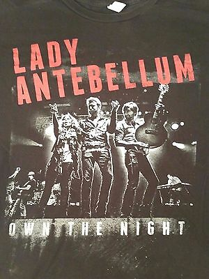 Lady Antebellum Own the Night 2012 tour unisex sz XL black/red concert country