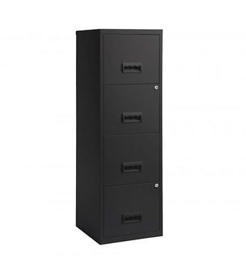 4 Drawer Metal Filing Cabinet Lockable Stationary A4 Files Home Office Storage