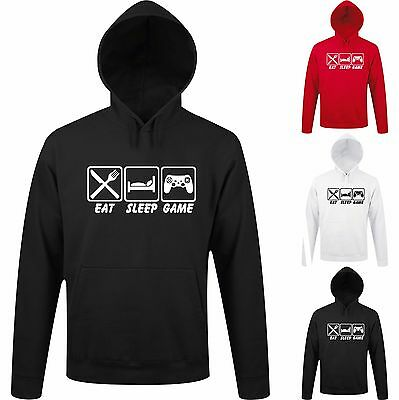 Kapuzenpulli Pullover Game Gamer Controller Computer Spiele EAT SLEEP GAME