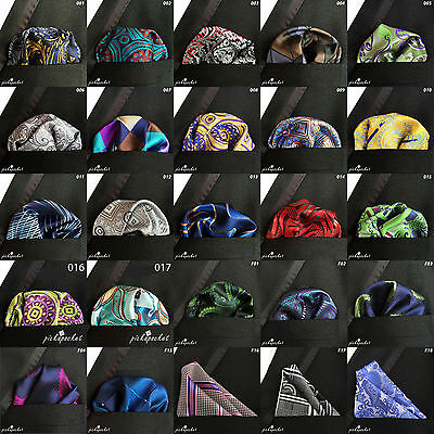 Highest Quality 100% Silk Hand Made Pocket Square Paisley Patterns Hankies Uk