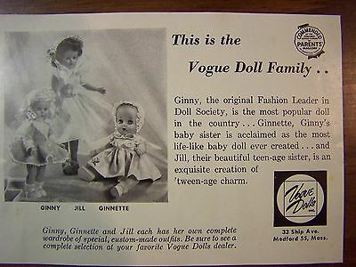 Ginnette Late 1950s Catalog Sheet - Minty Condition