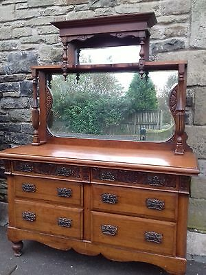 BEAUTIFUL ANTIQUE VICTORIAN  DRESSER SIDEBOARD circa 1870 WITH 2MIRRORS