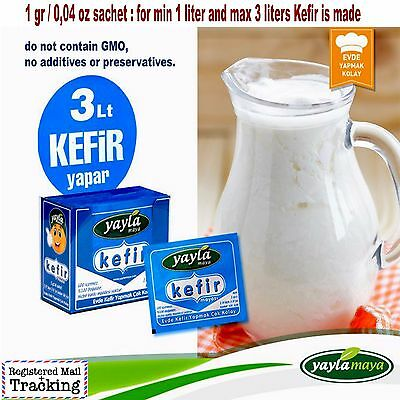 5-80 sachet Turkish Dried Milk Kefir Starter Culture - 1 sachet up to 3 liter