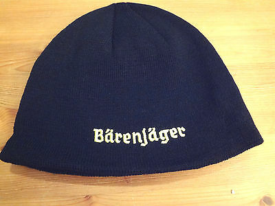 NEW Black & yellow Barenjager Honey Liqueur ski snowboarding winter beanie hat