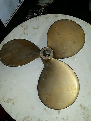 Antique bronze 3 bladed boat propeller Hydrosonic Columbian  D11 P9 RIGHT