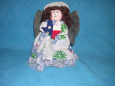 Spool Angel with Texas Accents Complete with Cowboy Hat