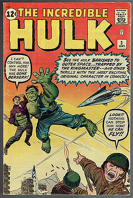 INCREDIBLE HULK  3  FN/6.0  -  1st appearance of the Ring Master!
