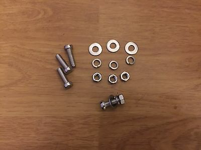 Lambretta Stainless Steel 18% Chrome Number Plate Fixing Kit Bolts Slot Head