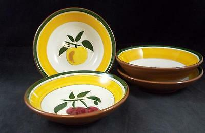 Stangl FESTIVAL 2 Cereal Bowls + 2 Fruit Bowls GREAT CONDITION
