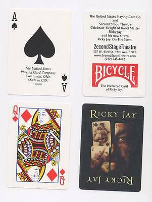 RICKY JAY Playing Cards On The Stem Magic Magician MINT condition Sealed New