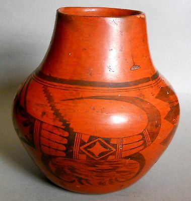 NAMPEYO of Hano! NOW REDUCED! Rare Sikyatki Revival HOPI-TEWA REDWARE Pottery!