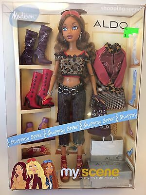 2004 My Scene Shopping Spree Madison Aldo Shoes Exclusive Barbie Doll NRFB