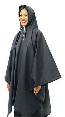 OUTBACK Waterproof Poncho Heavy Duty Nylon Navy