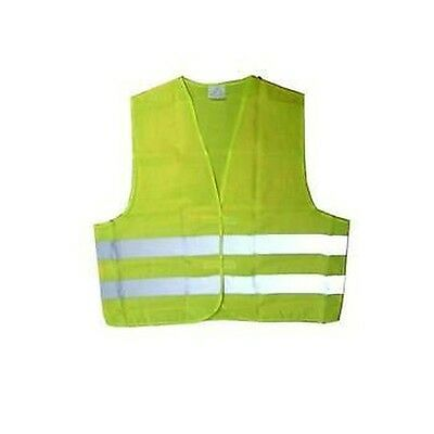 Vest Yellow With Band Reflective Marked Approved Jbm 51817