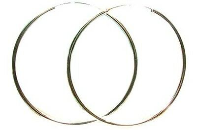 Quality USA Sterling 60mm Designer Hoops Ancient Egypt Sarcophagus of Pharaohs