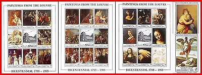 PAINTINGS / LOUVRE museum = 52 S/S & M/S MNH (COMPLETE COLLECTION) CV$395 OFFER?