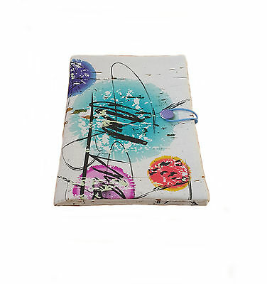 Handmade fabric book cover, notebook cover, fabric journal, traveler book cover