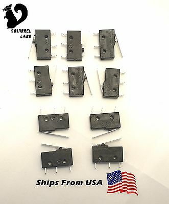 10 pc Micro Limit Switch Lever Arm Subminiature SPDT Snap Action LOT