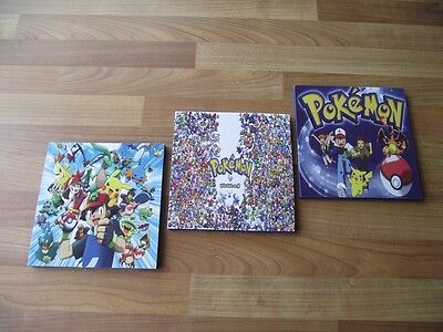Pokemon Canvas Wall Art Plaques/pictures Set- Free Postage Pickachu