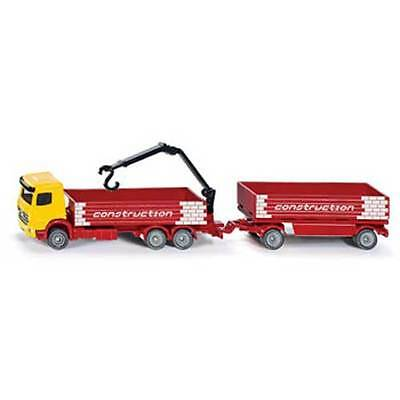 SIKU Truck for construction material and trailer 1:87 Scale NEW toy model # 1797