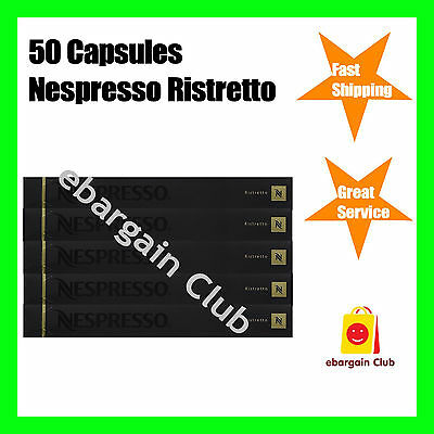 50 Capsules Nespresso Coffee Ristretto Premium Intense Coffee Pod Express Post