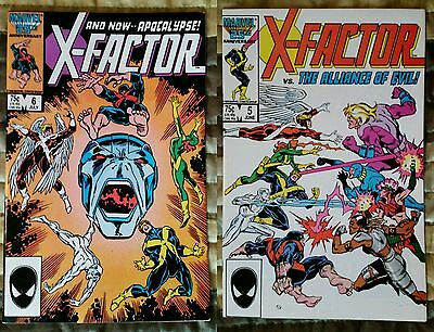 X-Factor 5 and 6 1st appearance of Apocalypse High grades x-men movie