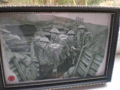First World War Trench Print in Frame