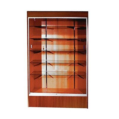 "Trophy Case, Glass Display Case, 48"" Long x 78"" Tall Cherry, #WC4CHE"