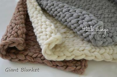 Newborn Baby Super Chunky Giant Huge Blanket Photo Photography Prop