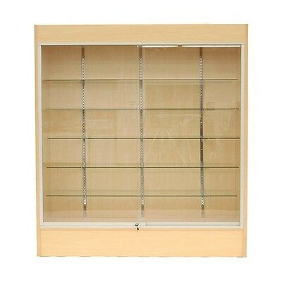 "Trophy Case, Glass Display Case, 70"" Long x 78"" Tall Maple, #WC6M"