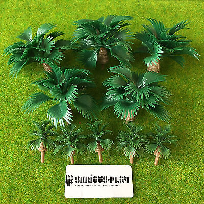 Serious-Play Leafy Palm Shrubs - Jungle Tropical Scenery Model Warhammer Trees