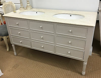 Traditional French Country Style Double Sink Bathroom Vanity Unit 1 Picclick Uk