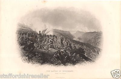 c1860 Crimean War Print Battle of Inkermann Charge of the Guards