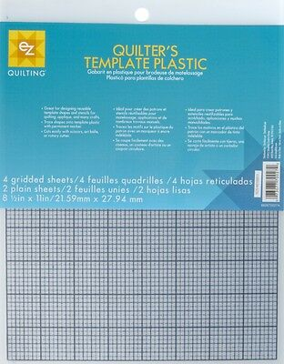 Simplicity 6-Piece EZ Quilting Quilter's Template Plastic Assortment