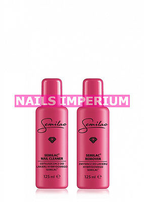 Semilac Hybrid Manicure Remover 125ml + Cleaner 125ml BEST PRICE