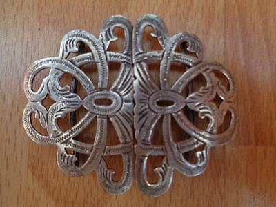 Antique Solid Silver Nurses Belt Buckle