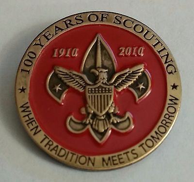 RED Boy Scouts of America 100th Anniversary Lapel Pin