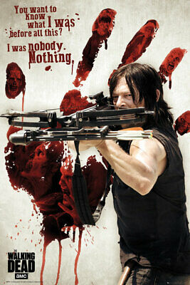 The Walking Dead - Tv Show Poster / Print (Daryl Dixon - Bloody Hand Print)