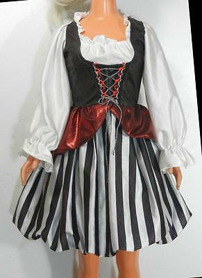 My Size Barbie Halloween Pirate Wench Dress Costume