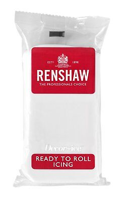 White Renshaw Ready To Roll Icing Fondant Cake Covering Regalice Sugarpaste 500g