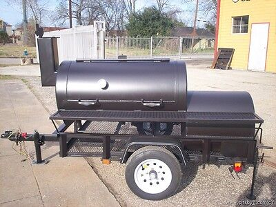 Trailer Barbeque Pit Custom Built