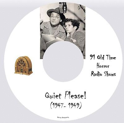 QUIET PLEASE! - 91 Old Time Horror Radio Shows - Audio MP3 CD