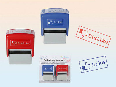 Social Media Like Dislike Thumbs up down Stamp Rubber Stamps
