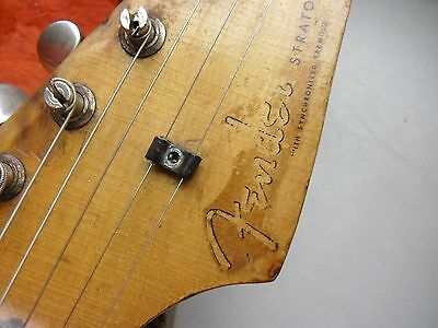 1956 Fender Stratocaster String Tree and screw Vintage '56 Strat Exc ! USA