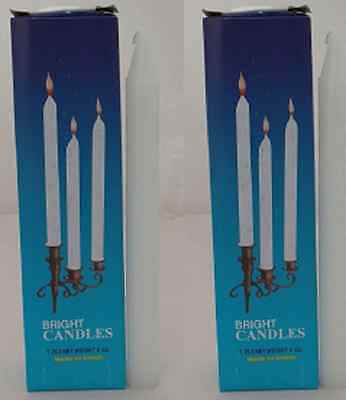 2x Three Stars Bright Candle White 8oz - 6 pcs Religious Ceremony Homewares