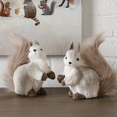 "Winter Wonderlands 7.5"" Squirrels - set of 2"
