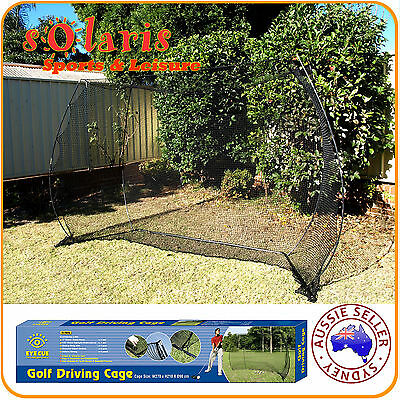 Large Portable Practice Golf Net 2.7x2.1M Mobile Golf Driving Cage Training Aid