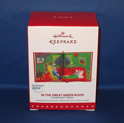 Hallmark - 2015 In the Great Green Room Goodnight Moon - Christmas Ornament NEW