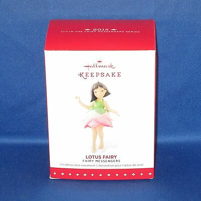 Hallmark - 2015 Lotus Fairy Messengers #11 - Keepsake Christmas Ornament - NEW