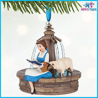 Disney Beauty and the Beast's Belle Singing Sketchbook Christmas Ornament